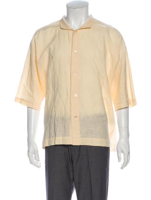 Issey Miyake Three-Quarter Sleeve Shirt Yellow