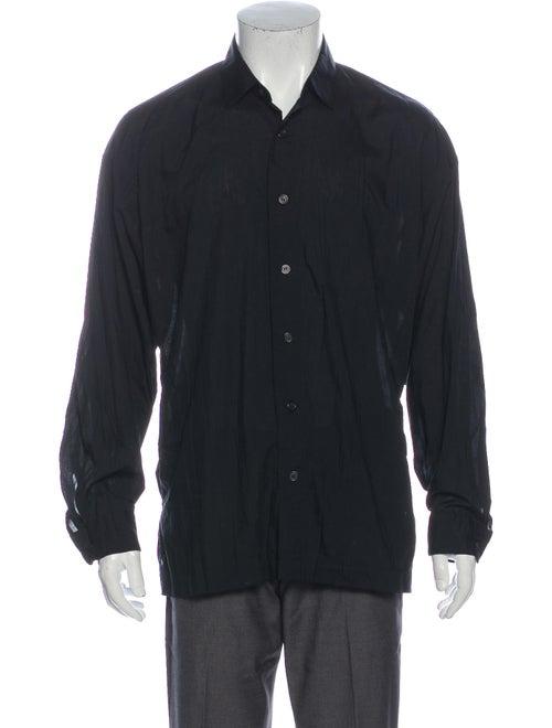 Issey Miyake Long Sleeve Dress Shirt Black