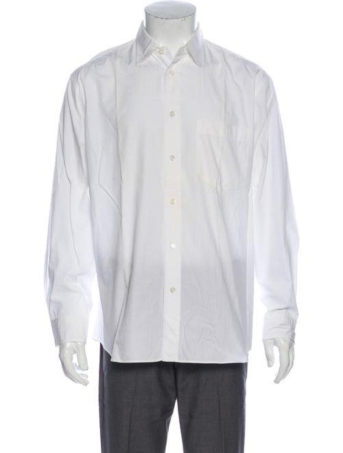 Issey Miyake Long Sleeve Dress Shirt White