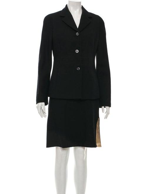 Istante by Versace Wool Knee-Length Skirt Set Blac