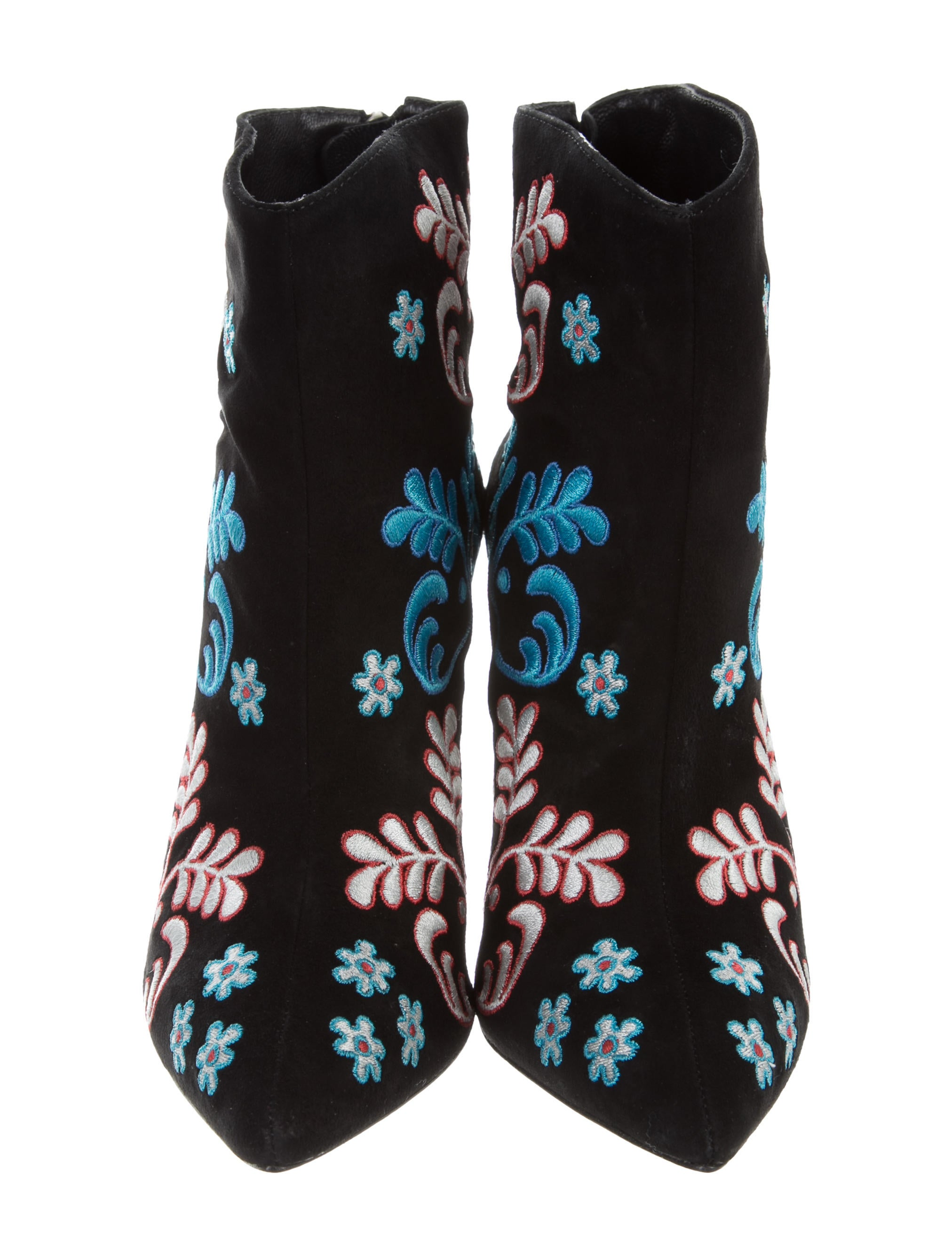 Isa Tapia Alondra Embroidered Ankle Boots Shoes Itp20147 The Detail