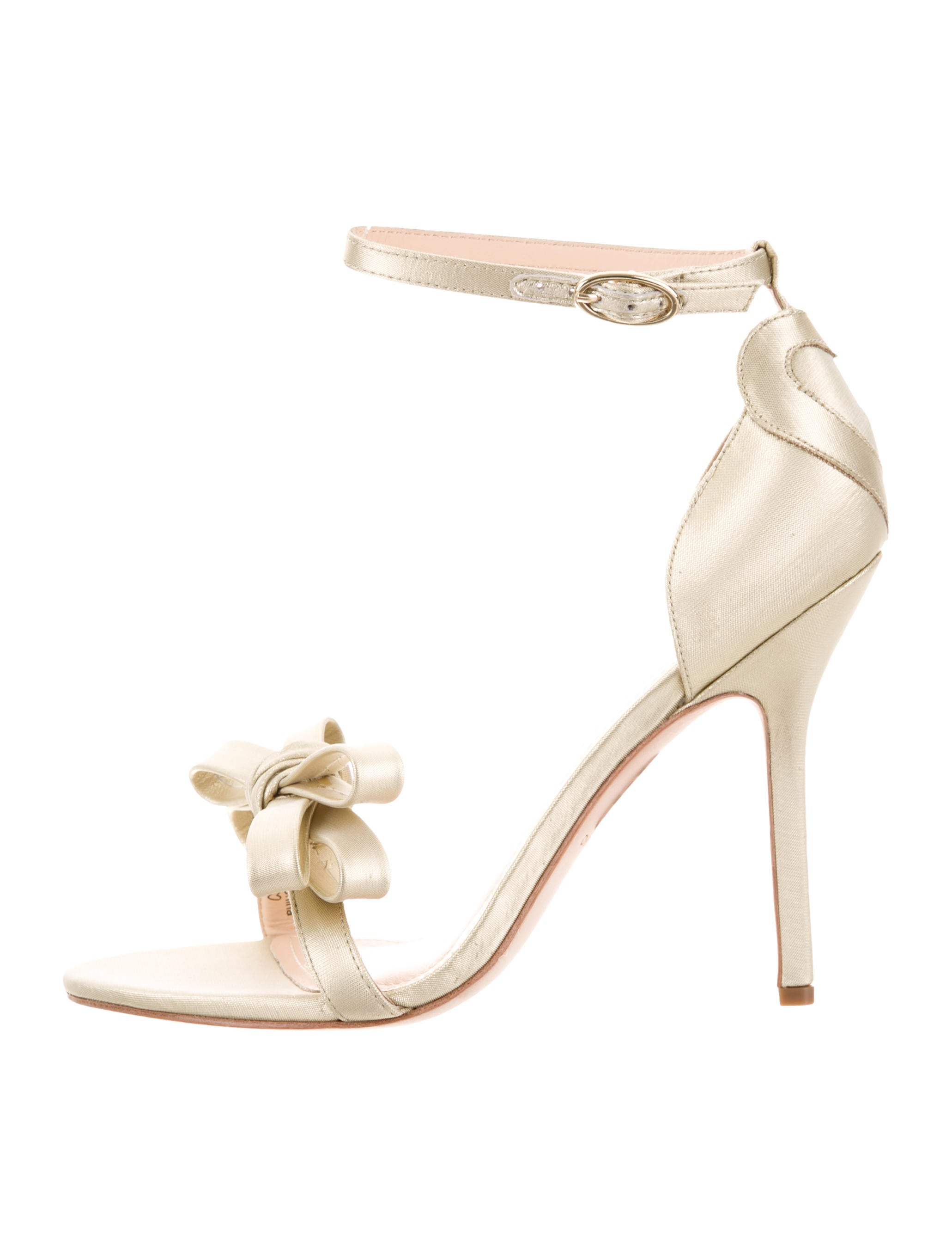 Isa Tapia Bow-Accented Ankle Strap Sandals sale explore cheap purchase iQvdqyqGL