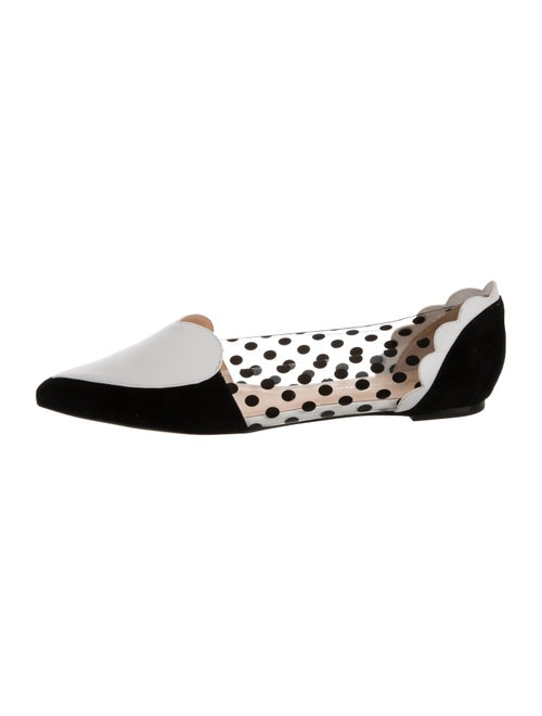 Isa Tapia Leather Celeste Flats Black