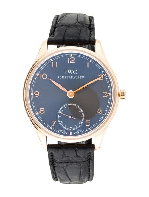 IWC Portugieser Hand Wound Watch rose