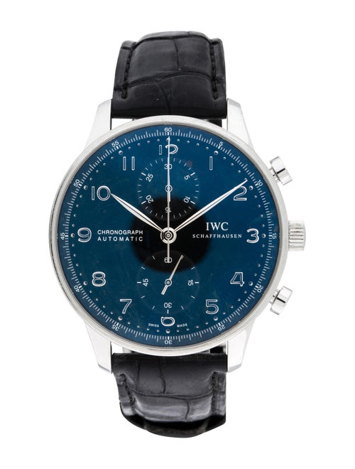 IWC Portugieser Chronograph Watch Black