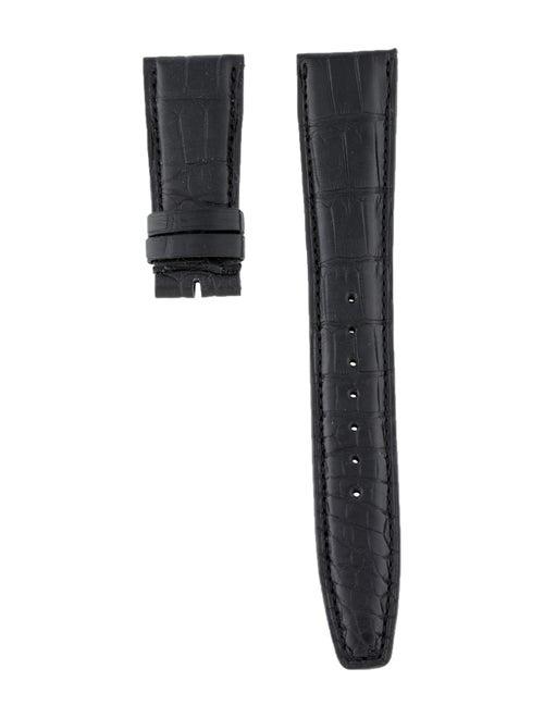 IWC 22mm Alligator Watch Strap Black