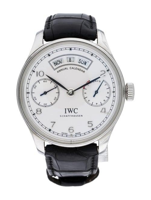 IWC Portugieser Annual Calendar Watch silver