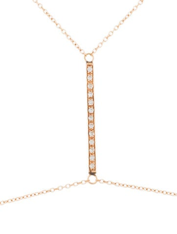 14K Diamond Bar Body Chain
