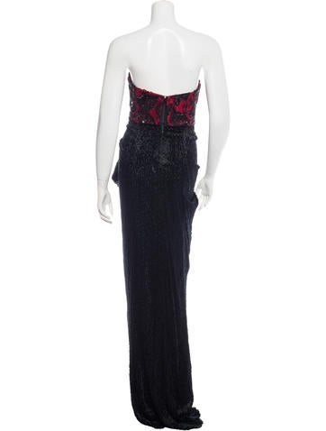 Velvet Embellished Gown