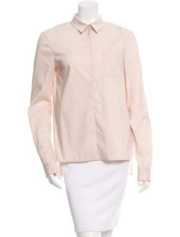 Jason Wu Collared Long Sleeve Top None
