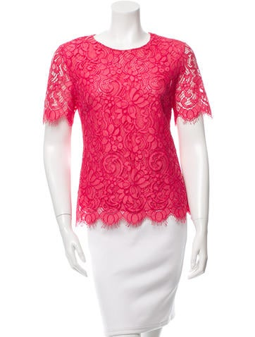 Jason Wu Short Sleeve Lace Top None