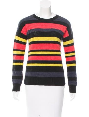 Jason Wu Striped Crew Neck Sweater None