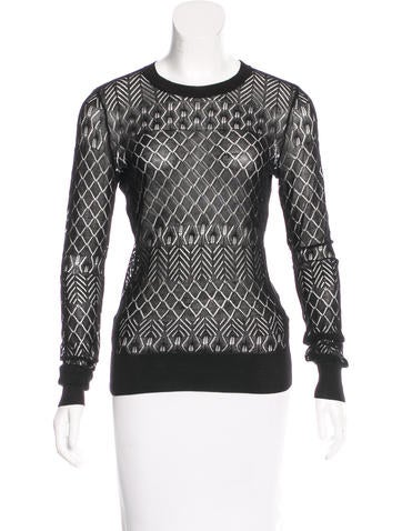 Jason Wu Silk-Blend Long Sleeve Sweater None