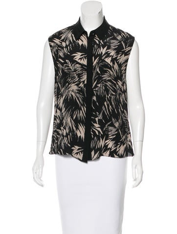 Jason Wu Silk Printed Top None