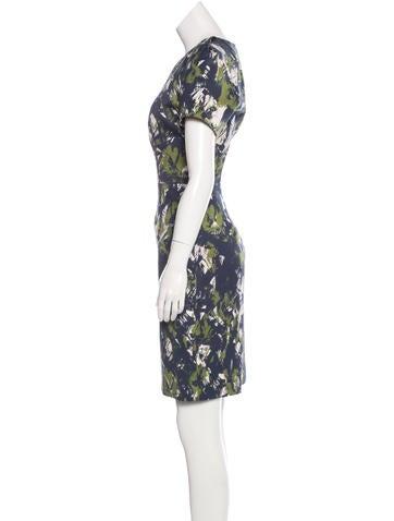 Brushstroke Knee-Length Dress