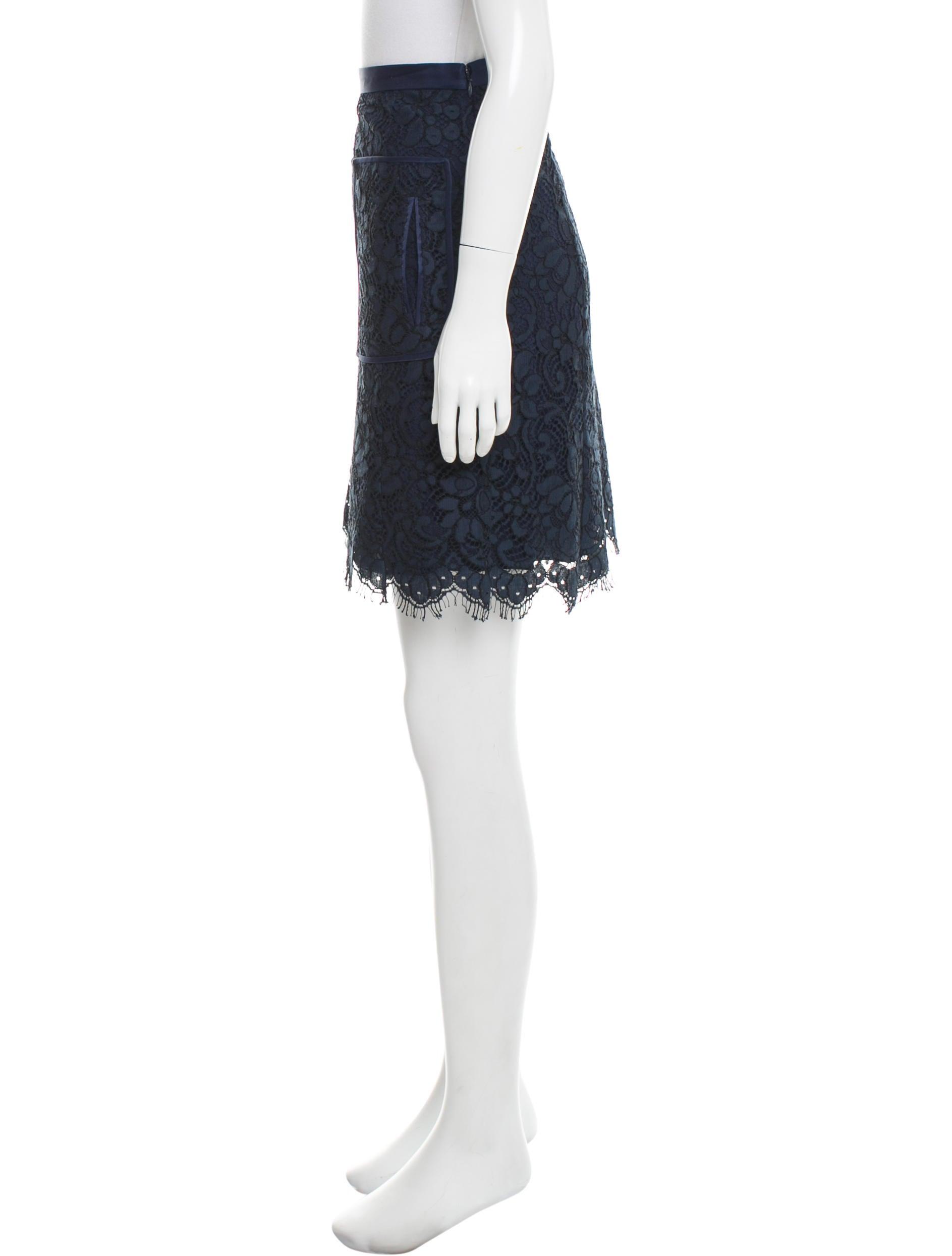 jason wu lace knee length skirt clothing jas23499