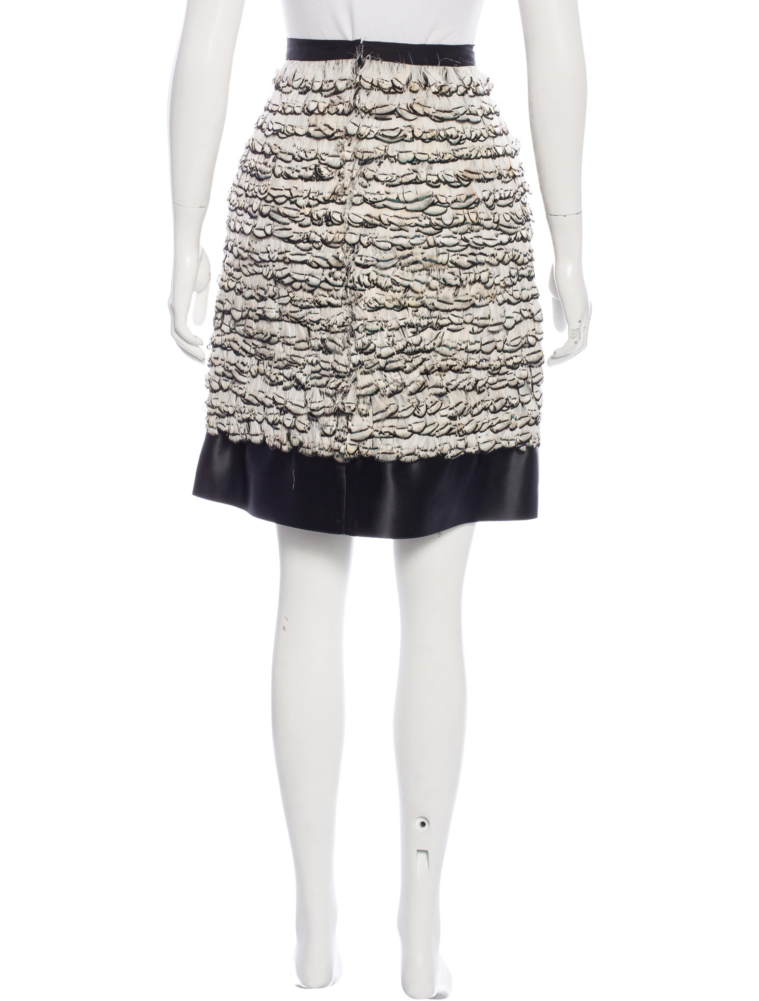 jason wu feather pencil skirt clothing jas23514 the