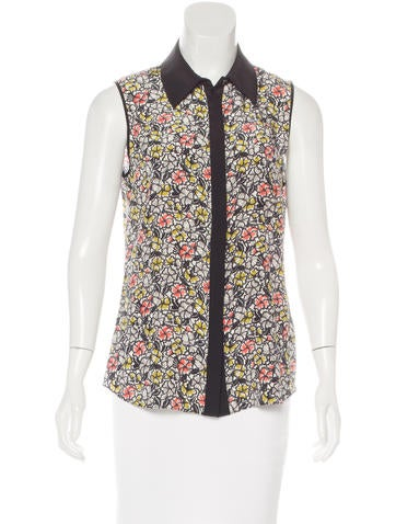 Jason Wu Silk Floral Print Top None