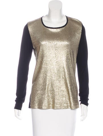 Jason Wu Metallic Jersey Top None