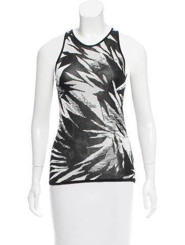 Jason Wu Patterned Sleeveless Top None