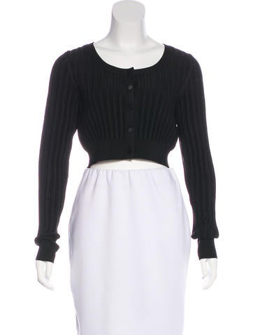 Jason Wu Cropped Rib Knit Cardigan None