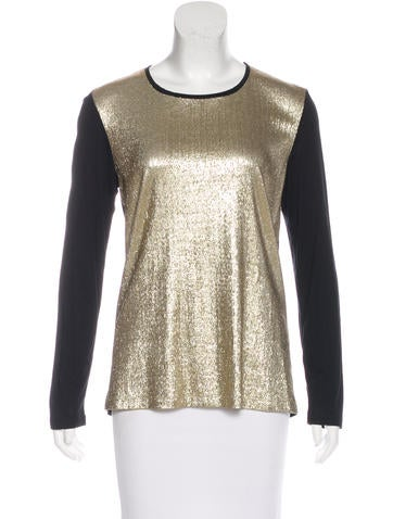 Jason Wu Sequined Long Sleeve Top None