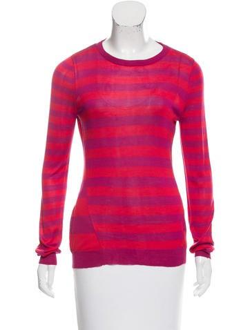 Jason Wu Striped Silk Sweater None