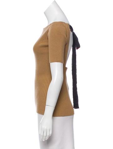 Wool-Blend Rib Knit Sweater w/ Tags