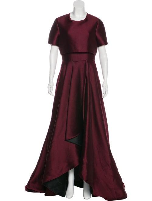 Jason Wu Short-Sleeve Evening Dress