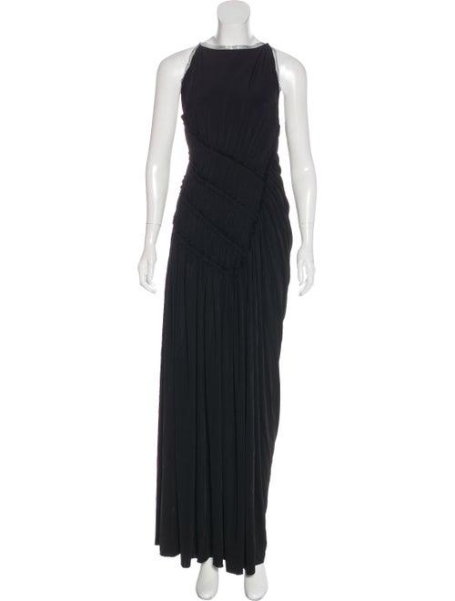 Jason Wu Smocked Halter Dress Black