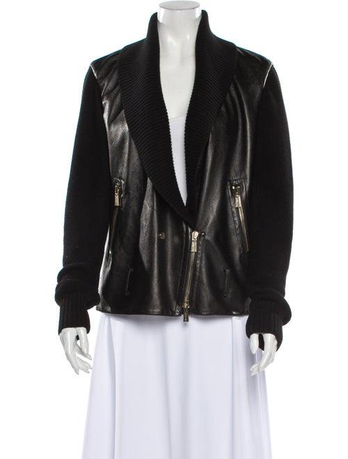 Jason Wu Lamb Leather Blazer Black