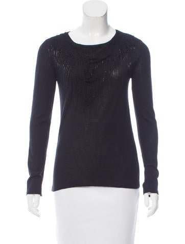 Jay Ahr Embellished Wool-Blend Sweater w/ Tags None