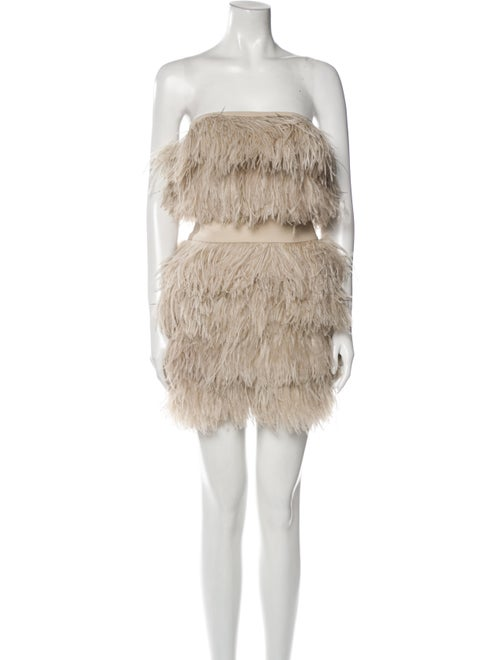Jay Ahr Feather Mini Dress