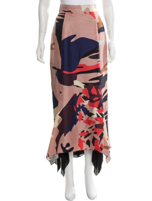 Juan Carlos Obando Silk Maxi Skirt Pink