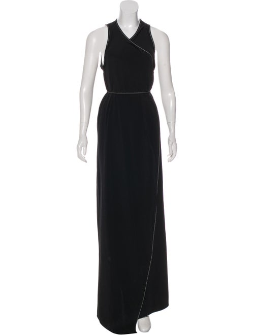 Juan Carlos Obando Silk Wrap Dress Black