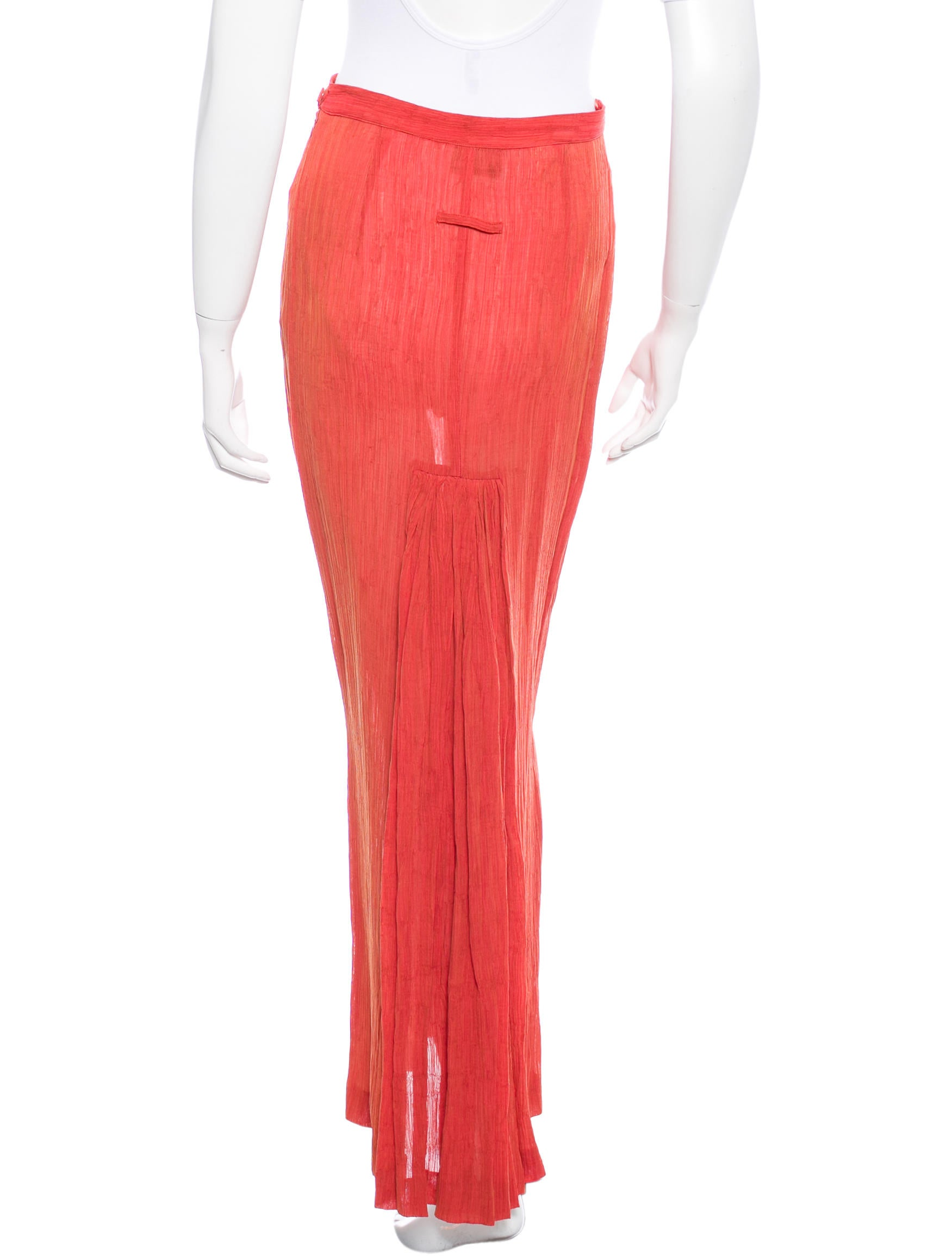 Jean paul gaultier pleat maxi skirt clothing jea24714 for Jean paul gaultier clothing