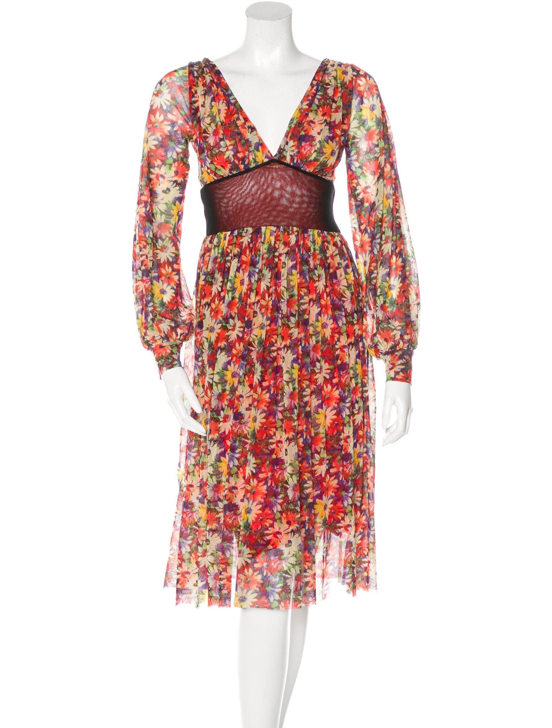 Jean paul gaultier floral print midi dress clothing for Jean paul gaultier clothing