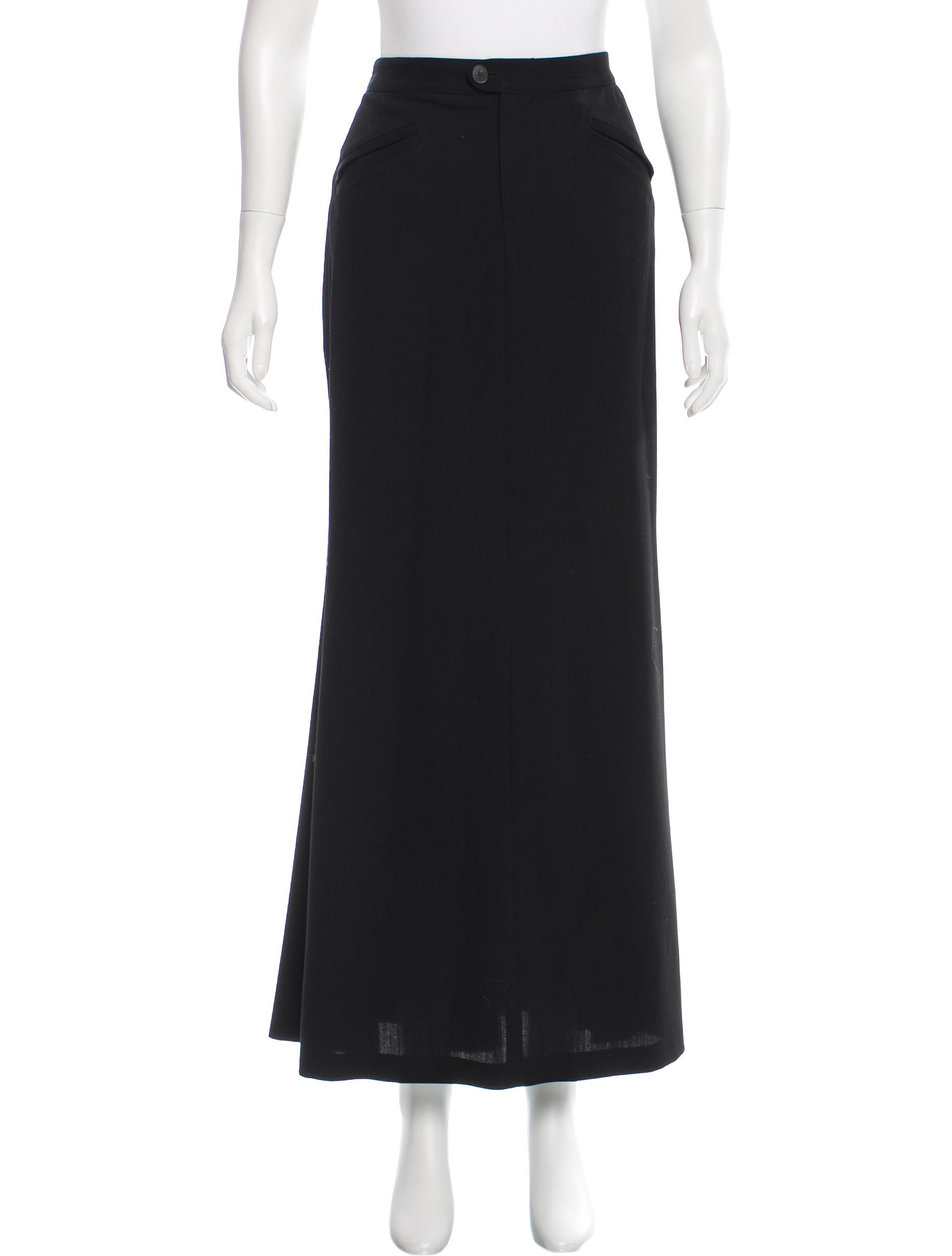 jean paul gaultier wool maxi skirt clothing jea25573