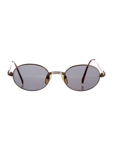 Oval Mirrored Sunglasses