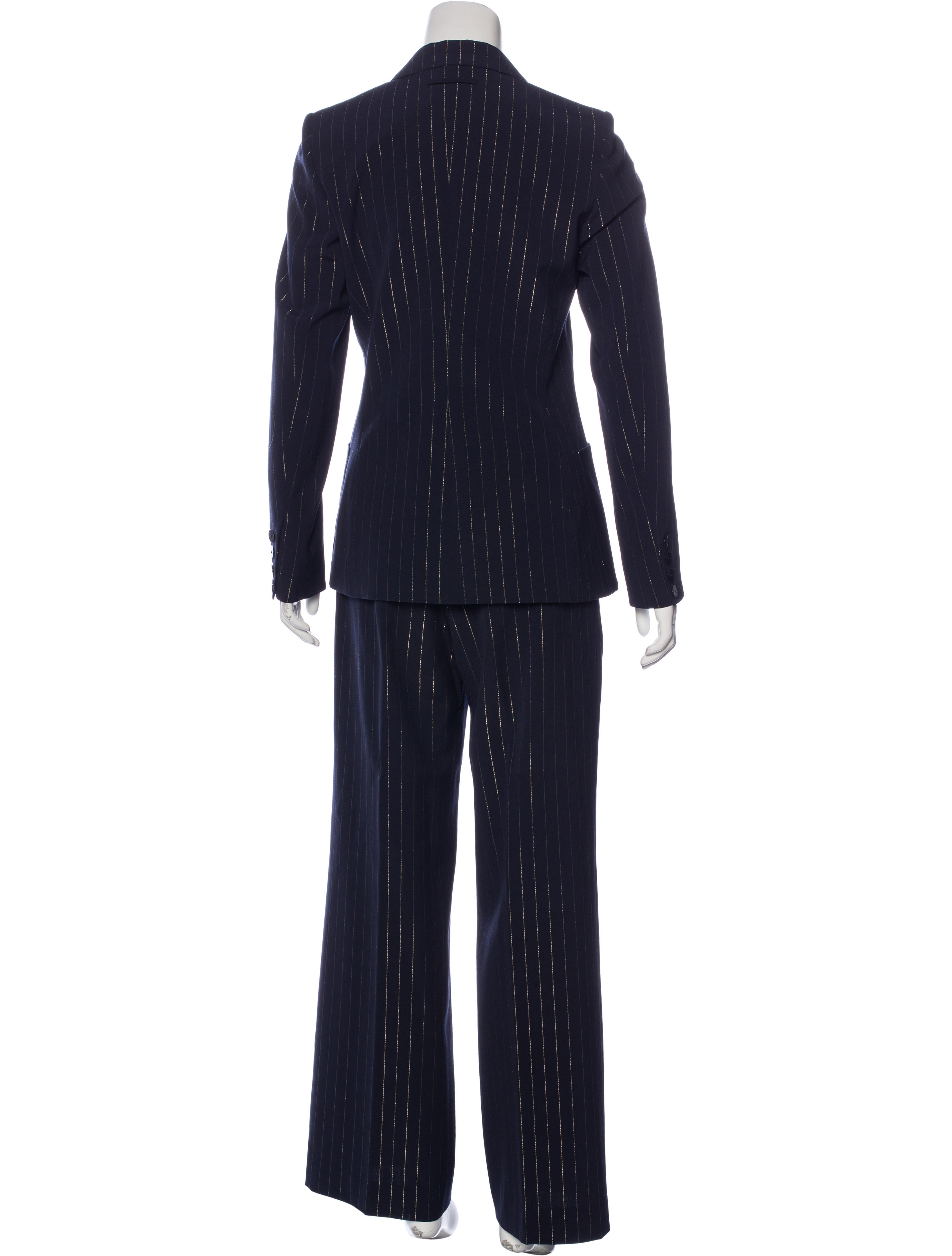 Jean paul gaultier striped virgin wool pantsuit clothing for Jean paul gaultier clothing