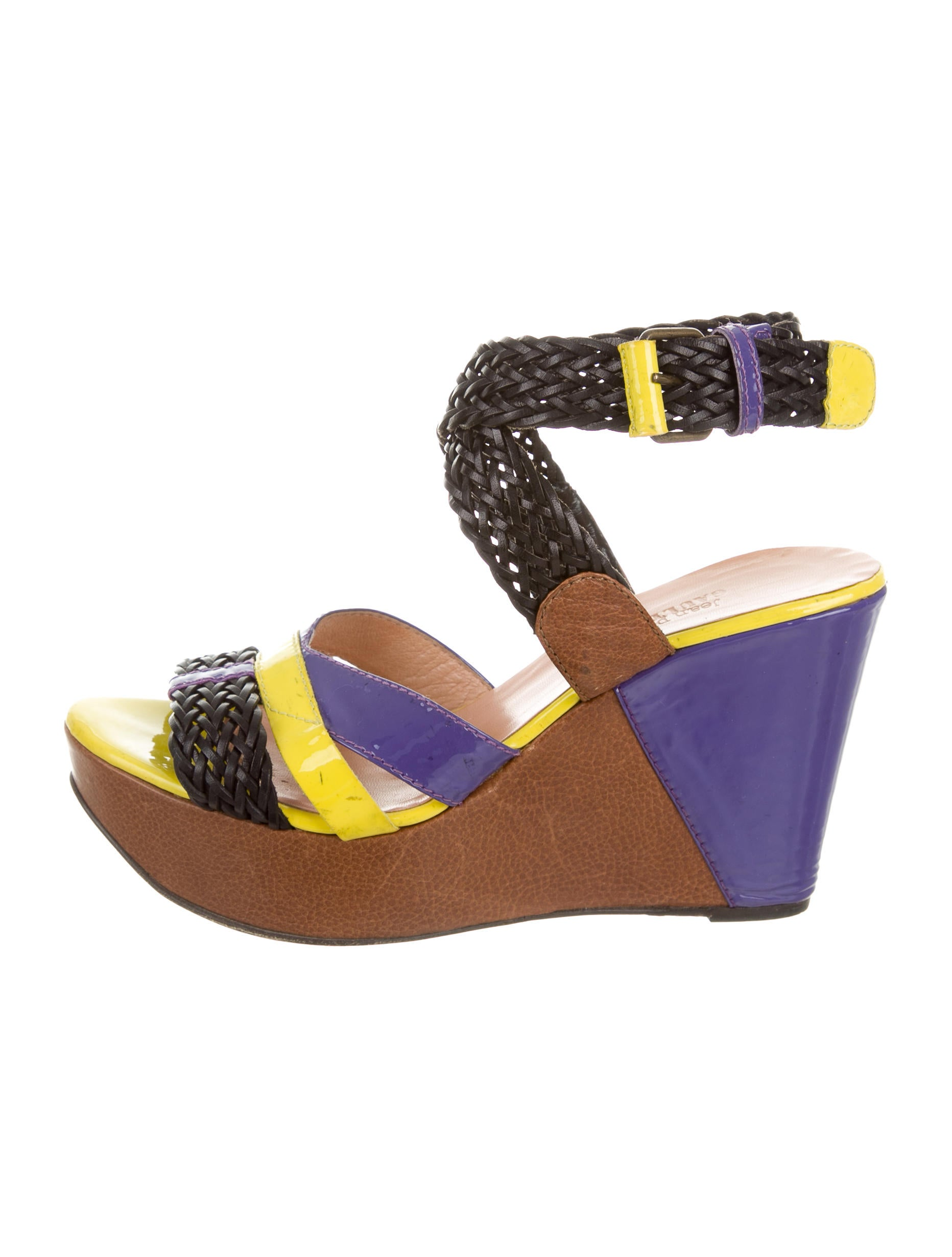 Jean Paul Gaultier Leather Wedge Sandals clearance best store to get 5KiUCpGsbG