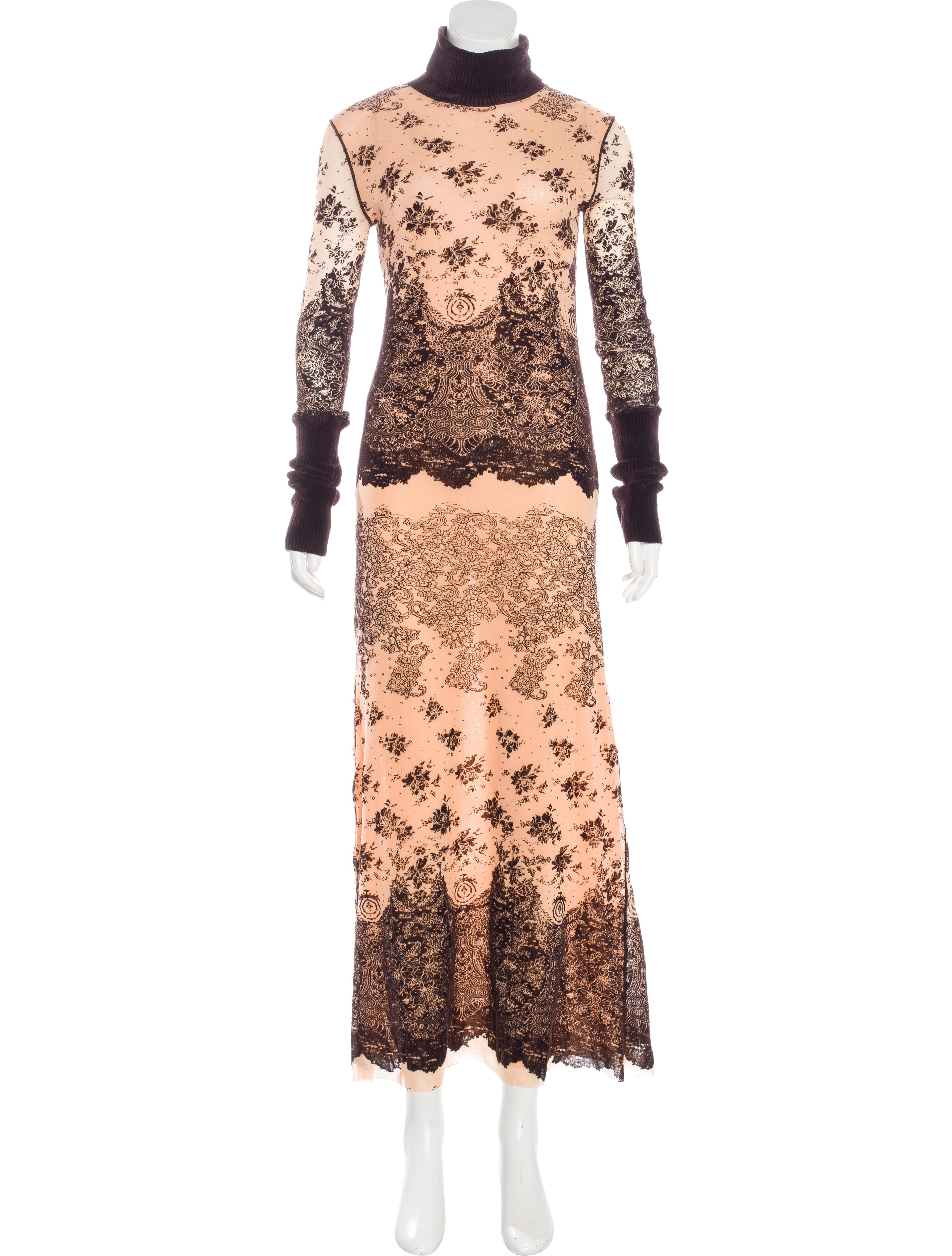 Jean paul gaultier mesh maxi dress clothing jea26627 for Jean paul gaultier clothing