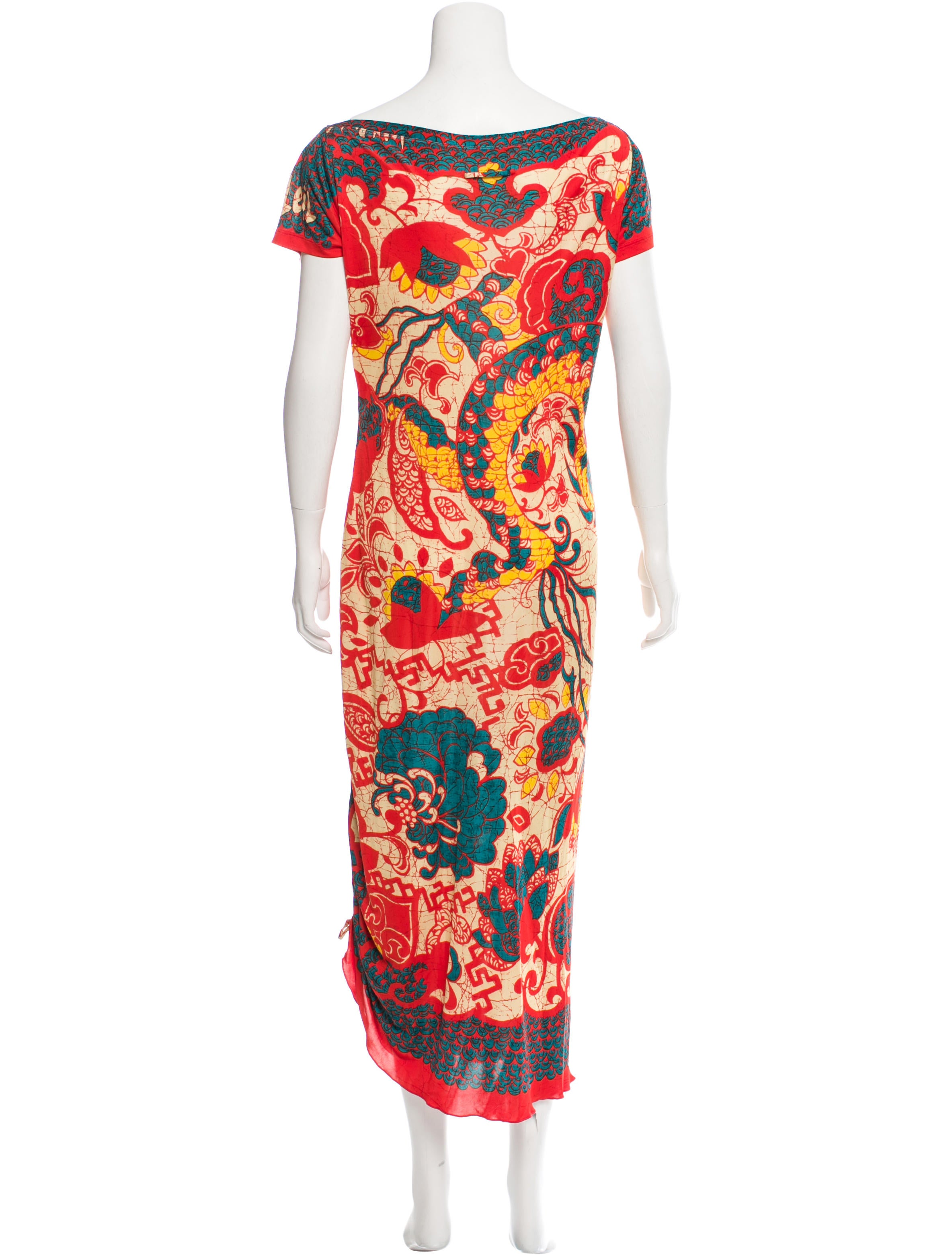 Jean paul gaultier printed maxi dress clothing for Jean paul gaultier clothing