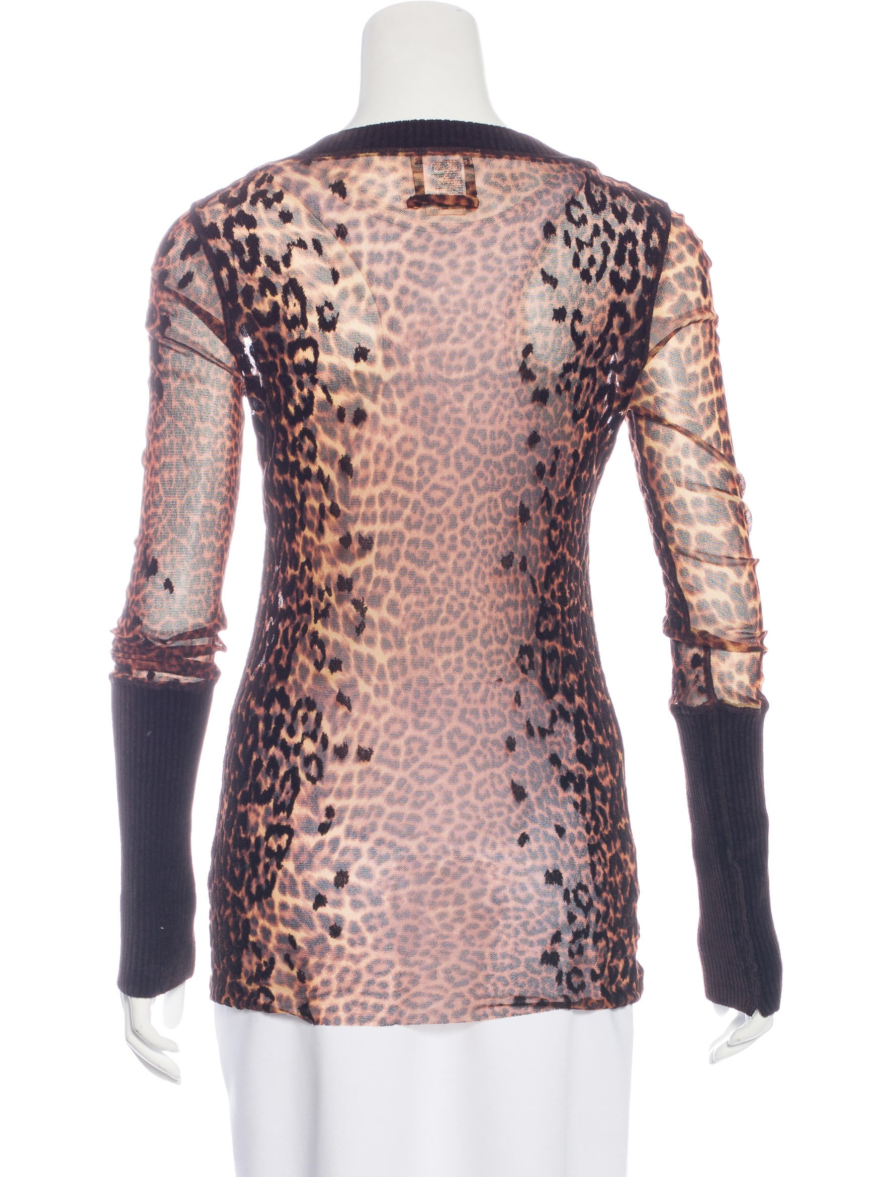 Jean paul gaultier mesh leopard print top clothing for Jean paul gaultier clothing