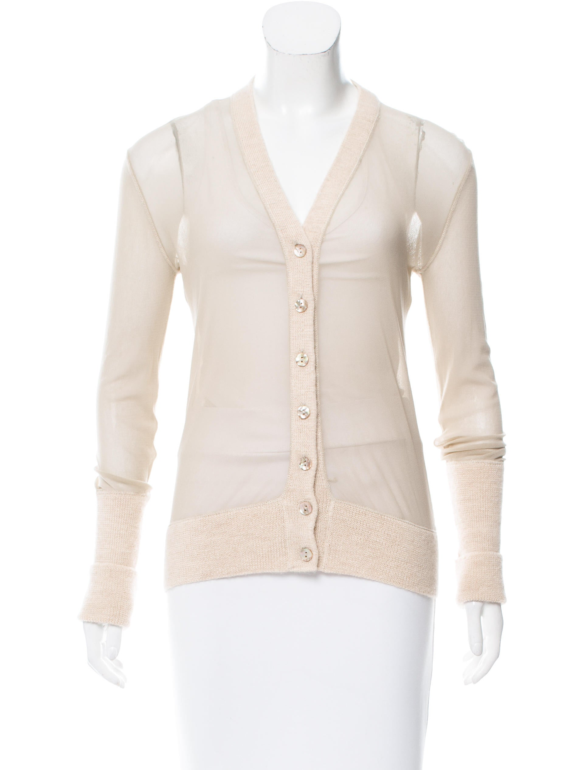 Jean Paul Gaultier Sheer Long Sleeve Cardigan - Clothing ...