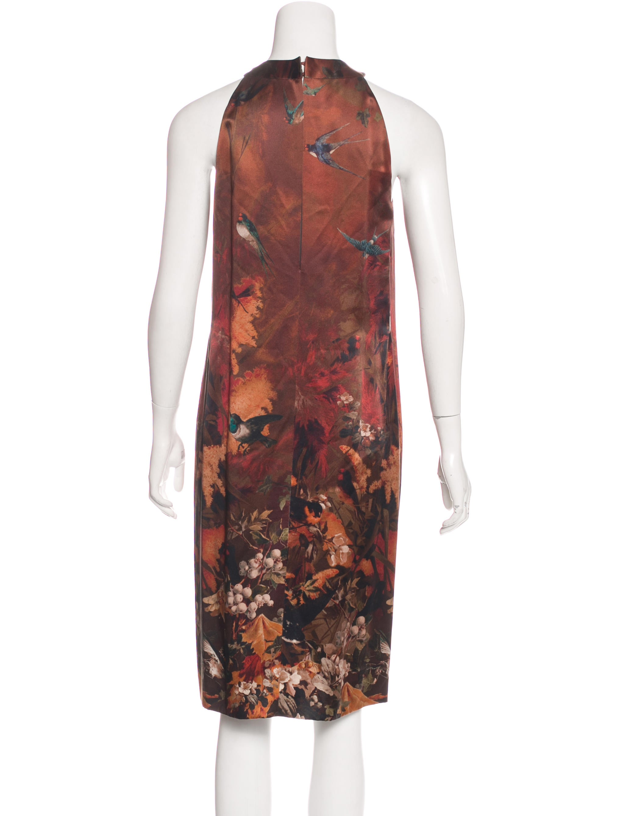 jean paul gaultier silk printed dress clothing