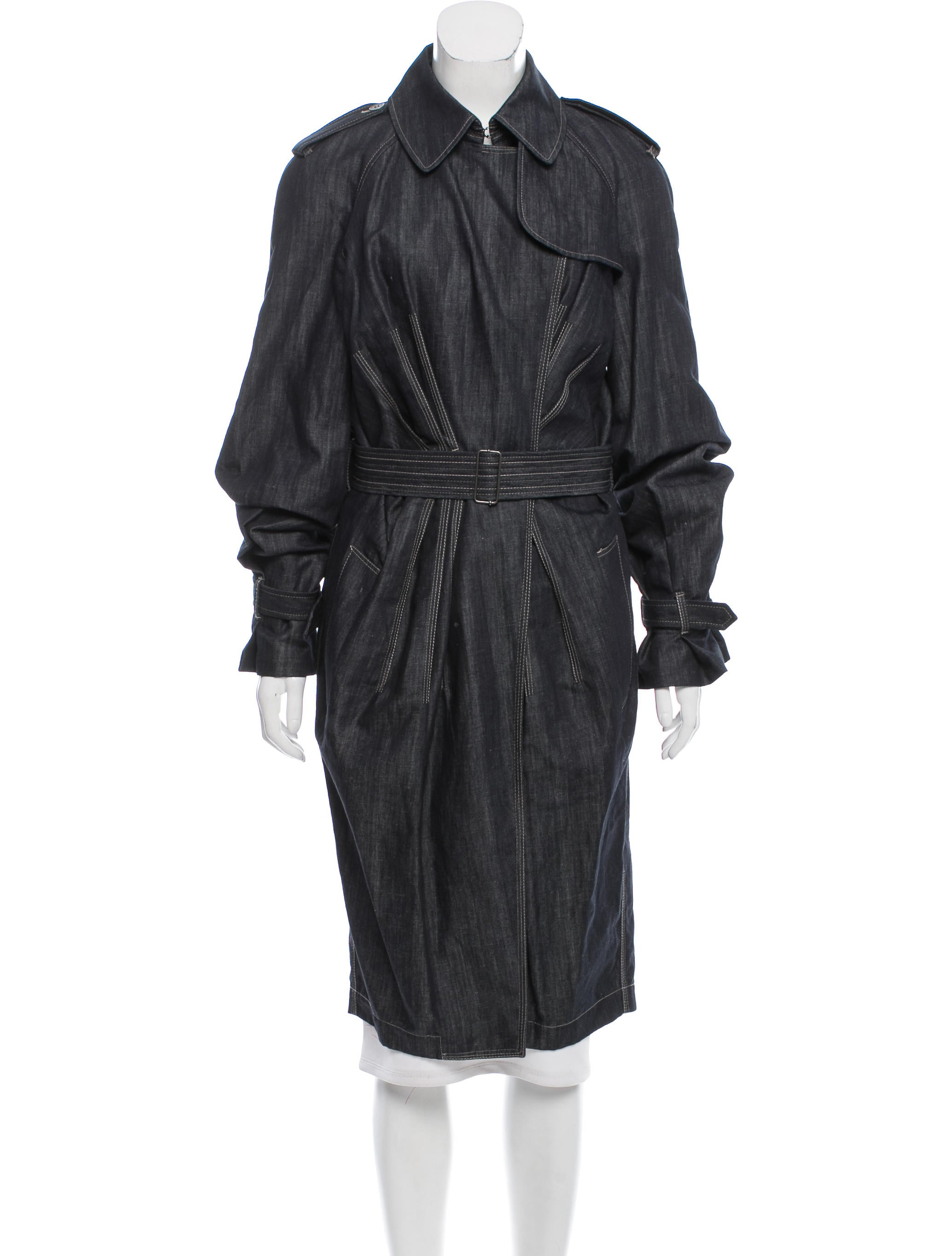 Jean paul gaultier chambray trench coat clothing for Jean paul gaultier clothing
