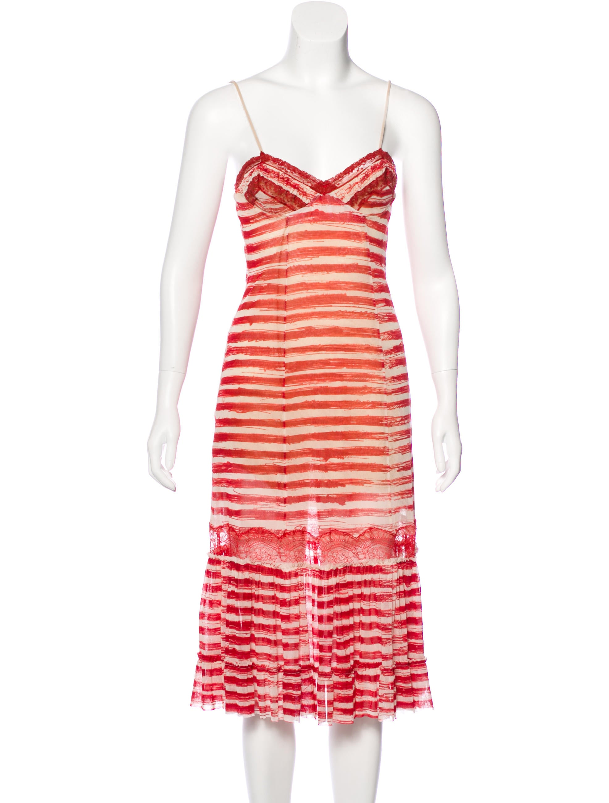 jean paul gaultier mesh printed dress clothing