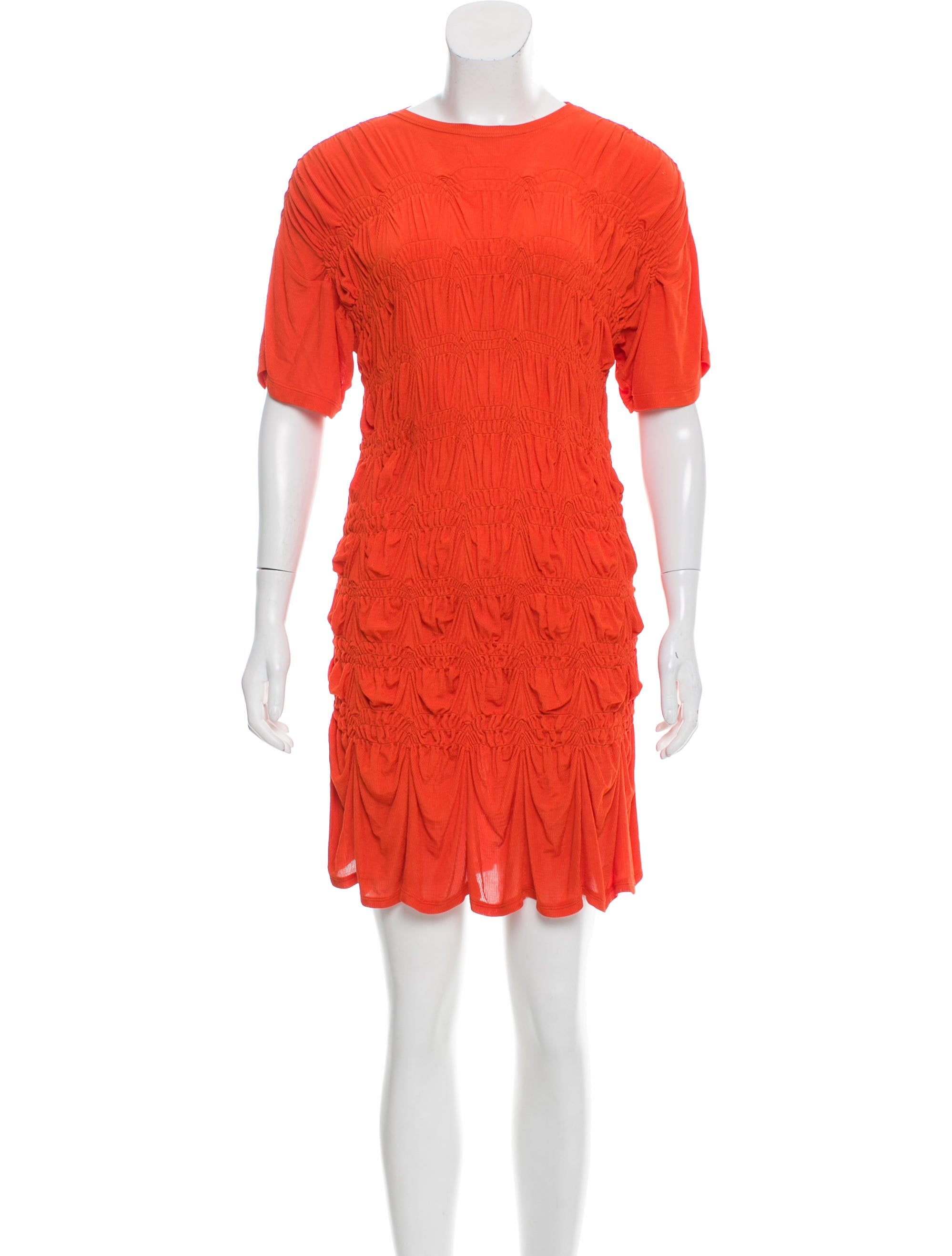 Jean paul gaultier ruched mini dress clothing jea27350 for Jean paul gaultier clothing