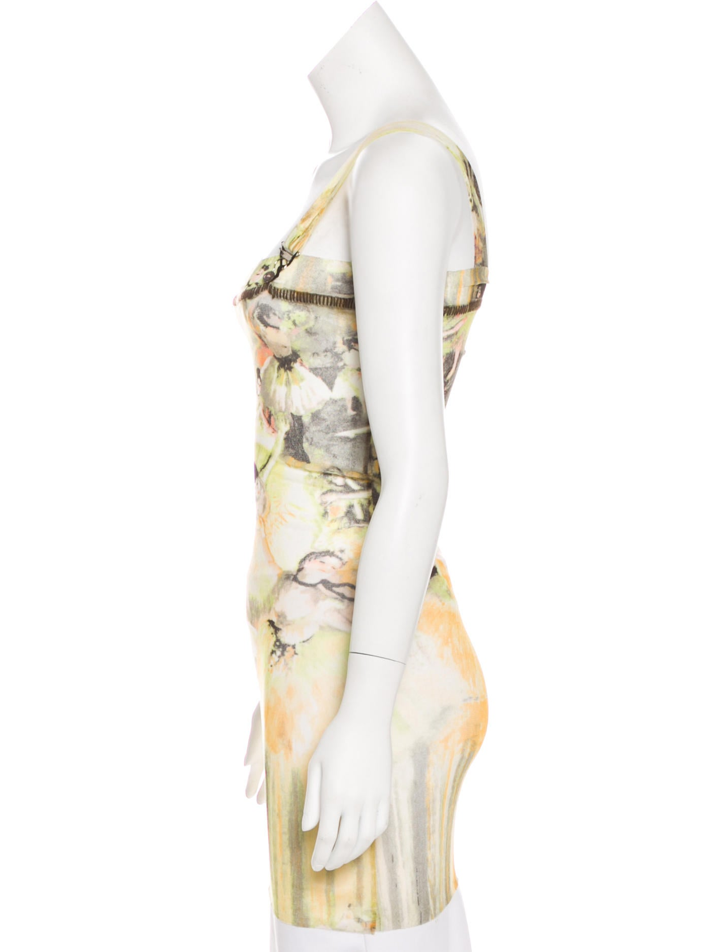 Jean paul gaultier sleeveless printed top clothing for Jean paul gaultier clothing